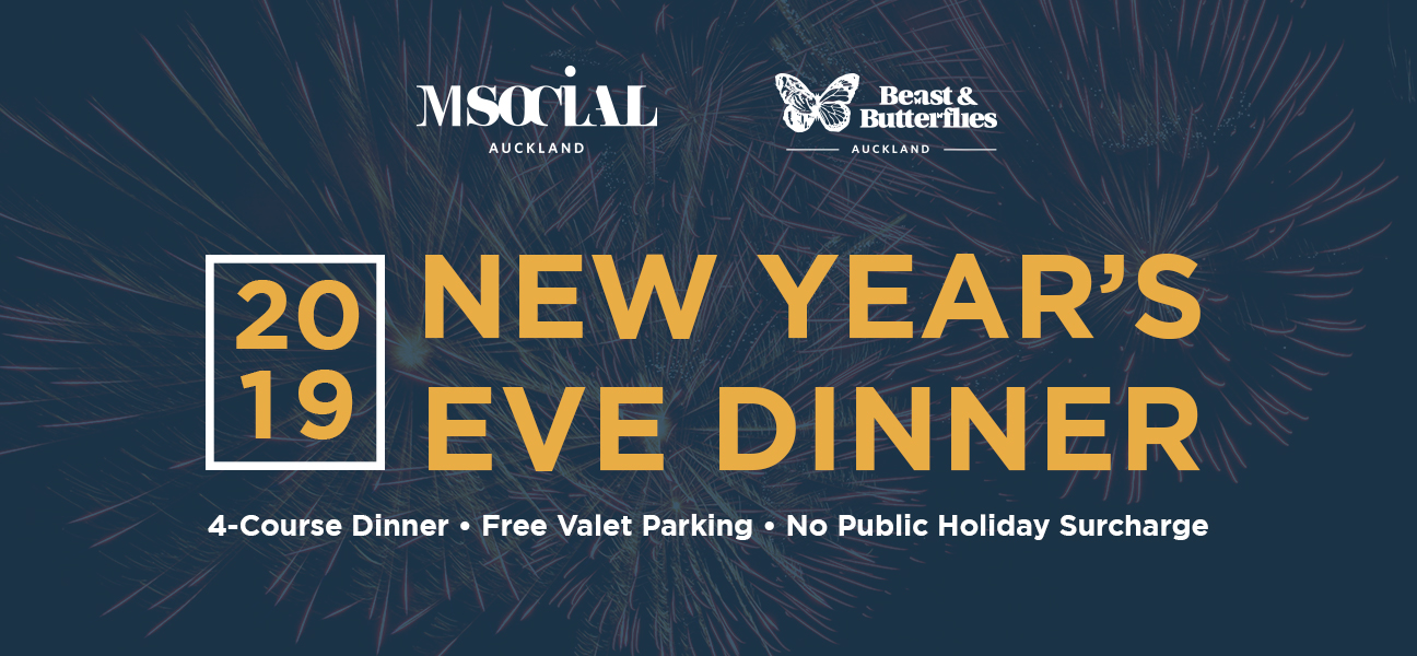 NYE Dinner 2019 Auckland New Years Eve