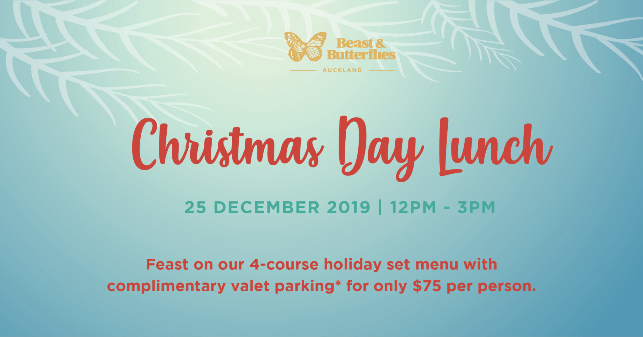 Christmas Day Lunch 2019 Auckland